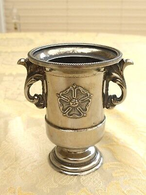 Vintage Repousse Rose Silver Plated Urn With Floral Handles   1380056/058