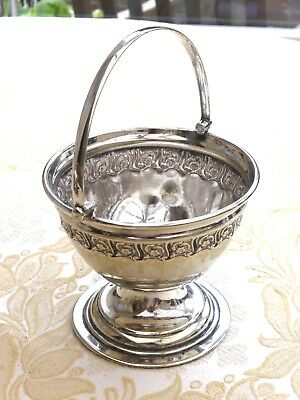 Victorian Floral Embossed Silver Plated Footed Bonbon Dish      1380797/800