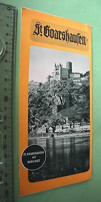 tolles altes Reise-Flyer St. Goarshausen - 1934 / 35 ?