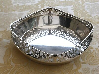 Vintage Silver Plated Rose Bowl With Floral Pierced Sides     1380779/783