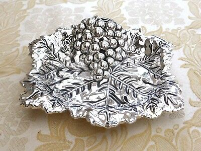 Vintage Paul Revere Silver Plated Grape Design Candy Dish   1380817/819