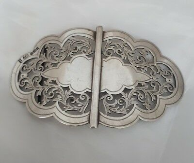 ANTIQUE STERLING SILVER MATRON NURSES BELT BUCKLE JOSEPH RODGERS & SONS 1899 66g