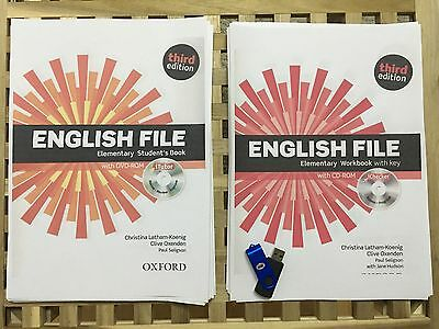 English File Third Edition Elementary Student's Book + Workbook + Audio USB