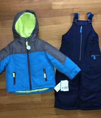 Carter's 24 Months Toddler Boy Fleece Lined Jacket with Snowpants Snowsuit NWT