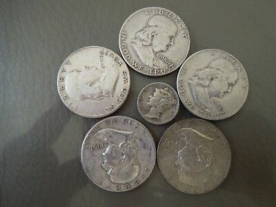 Franklin Silver Half Dollars and the 1942 Barber Silver Dime