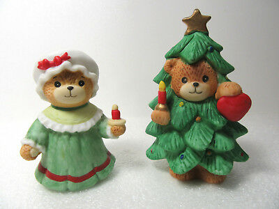 Lucy & Me ~ Christmas Tree w/Candle Heart and GIRL Holding Candle ~ Figurine