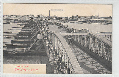The Hooghly Pontoon Bridge (Replaced By Howrah) Calcutta Early 1900's Valsecchi