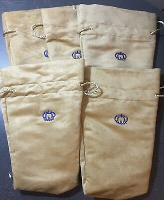 """Crown Royal Reserve Bag 750ml-new """"five bags"""" Suede"""