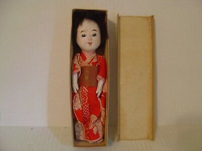 Vintage Japanese Geisha Girl Doll In Box Made In Japan
