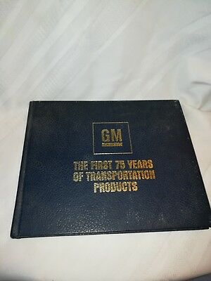 Gm The First 75 Years Of Transportation Hardcover Book & A Letter From Chairman