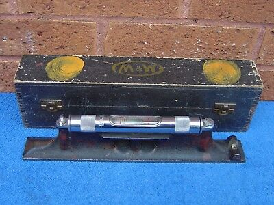 Superb Quality Vintage Moore And Wright Precision Engineers 12 Inch Spirit Level