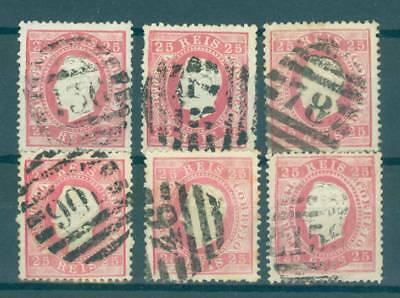 PORTUGAL 1870s - Small group of 2nd Reform numeric different cancels /O