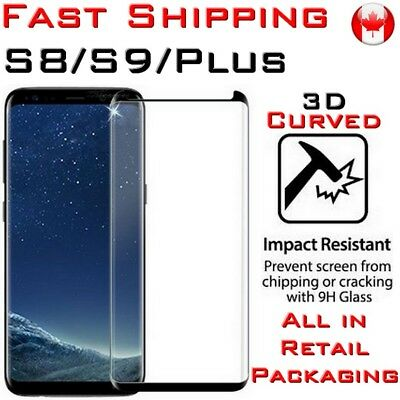 Screen Protector Tempered Glass Premium Full Cover Curved Galaxy S8 S9 S10 S+ e