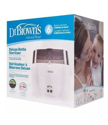 Dr Brown's Deluxe Electric Steam Baby Bottle Sterilizer Sanitizer Infant Newborn