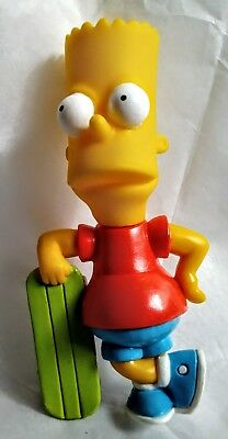 Simpsons BART SIMPSON leaning on skateboard by Burger King toy