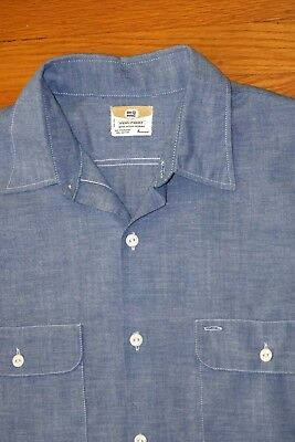 Vintage  BIG MAC PENNEYS CHAMBRAY Work Shirt Selvedge 50/50  Excellent 16-16.5