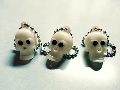 Vintage 60's Mechanical Skull Charm,Prize,Keychain,Zipper Toy