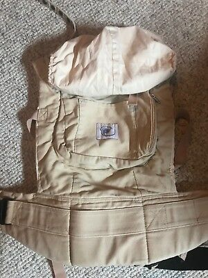 Ergo baby carrier, Original Style With Insert, Khaki, Tan  0-48 month