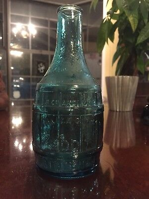 "Vintage 7 1/2"" Wheaton Blue Dr Chandler's Jamaica Ginger Root Bitters Bottle!!"