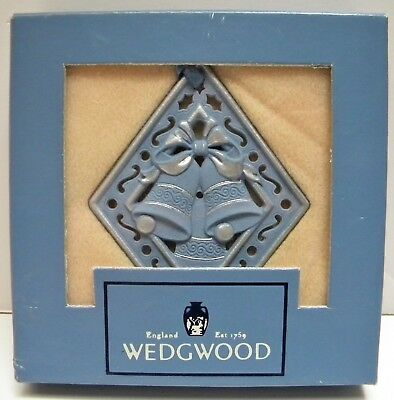 Wedgwood Blue Jasper SILVER BELLS Ornament