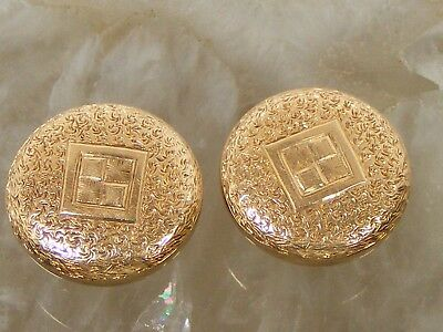 Beautiful Fancy Antique Victorian 14K Gold Cuff Links Wedding Groom
