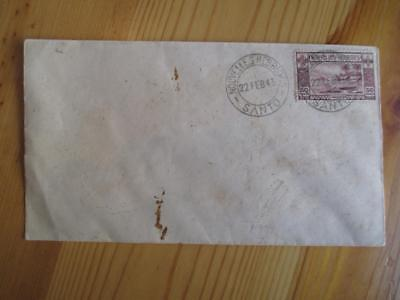1943 British New Hebrides Unaddressed Cover With Sc # 57- Cancelled Santo (YY40)
