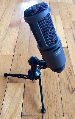 Audio-Technica AT2020USB Cardioid Condenser Microphone and Stand