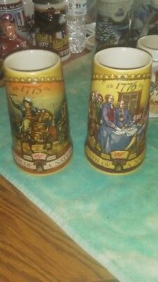 Miller Birth of a Nation Steins 1st and 2nd Series