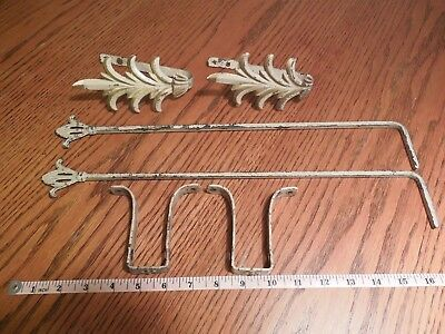 2 Vintage Swing Arm Curtain Rods Complete NICE!! L@@K!!