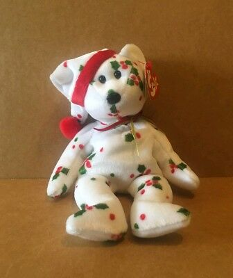 Vintage 1998 TY Original Beanie Baby Holiday Teddy Plush Toy Collectible