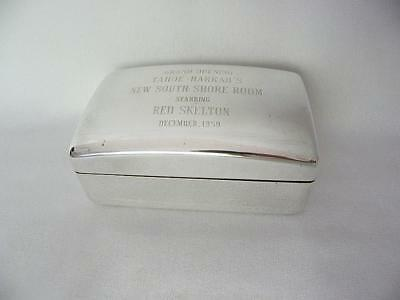Grand Opening Tahoe Harrahs South Shore Silver Plated Box Red Skelton Dec 1959
