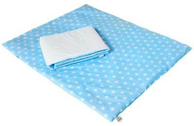 Clair De Lune Blue Stars Baby Cot Bed Toddler 4.0 Tog Duvet Quilt + Bumper Cover