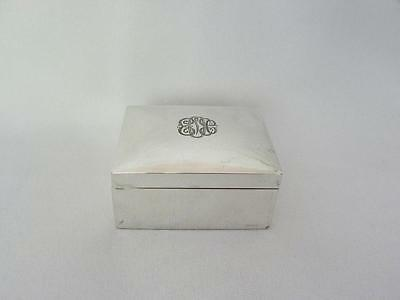 Lovely Vintage Sterling Silver Trinket or Dresser Vanity Box