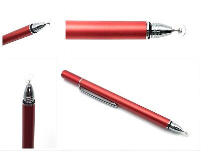 Red Precision Thin Disc Stylus Pen Fine Tip For All Touch Screens