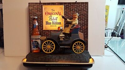 Rare 1960 Pabst Blue Ribbon Jalopy Lighted Beer Sign All Lights Work Complete