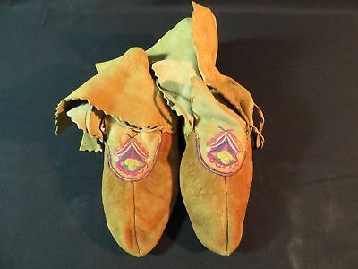 Native American Cree Embroidered Moccasins