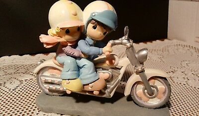 Precious Moments TWO HEARTS TWO WHEELS Motorcycle Two For The Road Figurine 2005