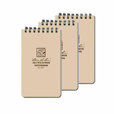 Rite in the Rain #935T 3-Pack Shirt Pocket Tactical Spiral Notebook