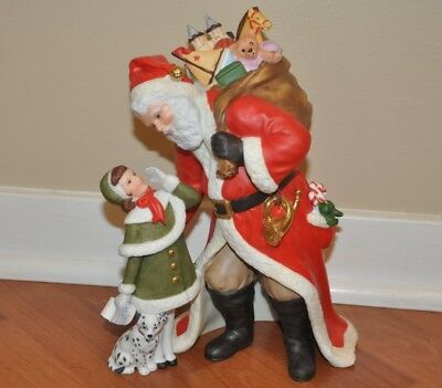 "Lenox Santa ""Christmas Wish"" Figurine Fine Porcelain 1995 Mint Condition"