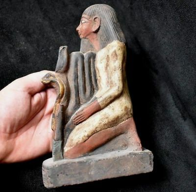 ANCIENT EGYPTIAN ANTIQUE superb Statue of a Kneeling Senenmut 1500 BC