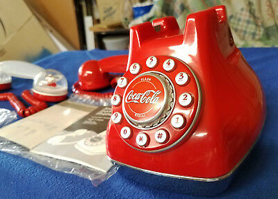 Coca-Cola Snow Dome Phone, Original In Box