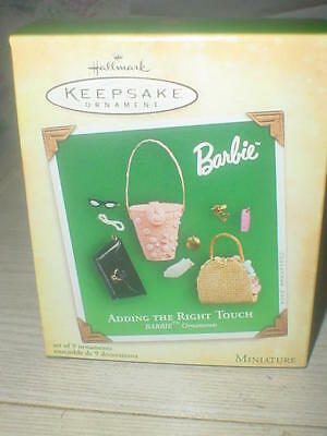 Hallmark Adding The Right Touch 2004 Barbie Christmas Keepsake Ornaments Set