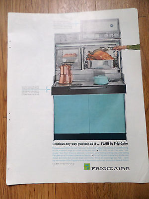 1962 Frigidaire Kitchen Ad  Flair Electric Range  Delicious any way you Look at