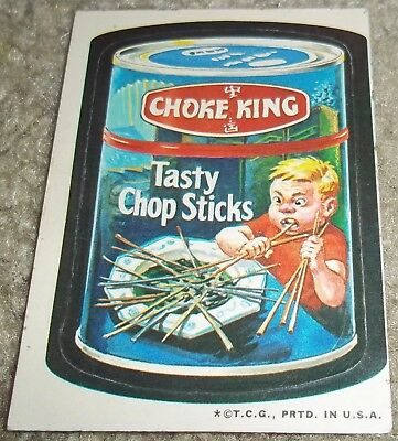 Vintage Wacky Packages 3rd Series 3 Choke King Topps 1973 sticker WHITE BACK