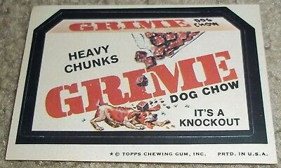 Vintage Wacky Packages 7th Series 7 Heavy Chunks Grime Dog Food 1974 sticker