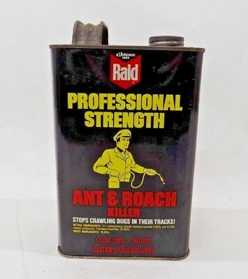 Vintage RAID Square 1/2 Gallon Can Roach and ant Killer