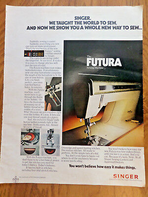 1973 Singer Sewing Machine Ad The Futura Sewing Machine