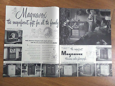 1950 Magnavox Radio-Phonograh TV Television Ad Shows 10 Models