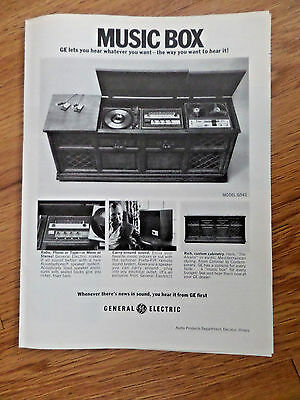 1968 GE General Electric Phonograph Ad   Music Box