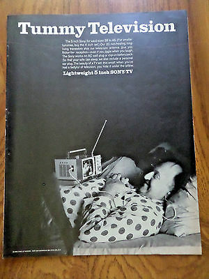 1965 The Sony TV Television Ad  Tummy Television  Lightweigh 5 Inch